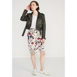 Amour Vert Bernetta Silk Floral Print Skirt - XS